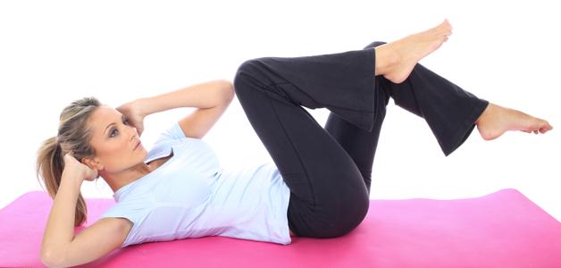 exercícios para perder barriga-bicicleta-no-ar