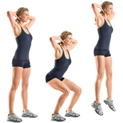 musculação para emagrecer Saltar-Agachamentos