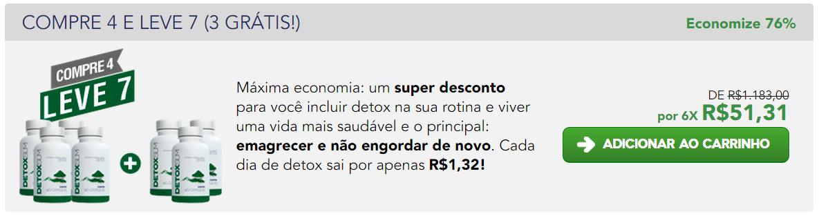 detox slim preço 4 pacotes