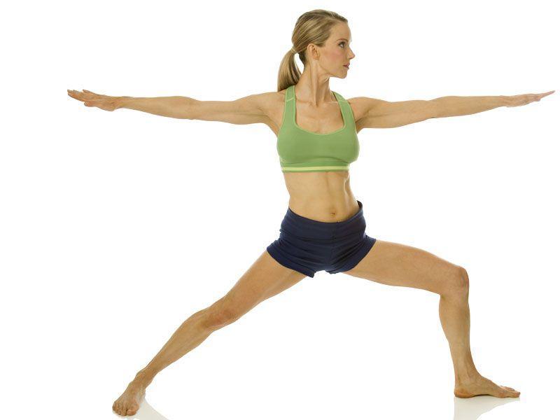 posição guerreiro yoga