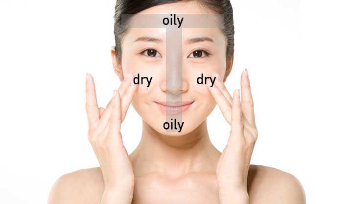 """Zona """"T"""" do seu rosto é a região em que mais se nota a oleosidade"""