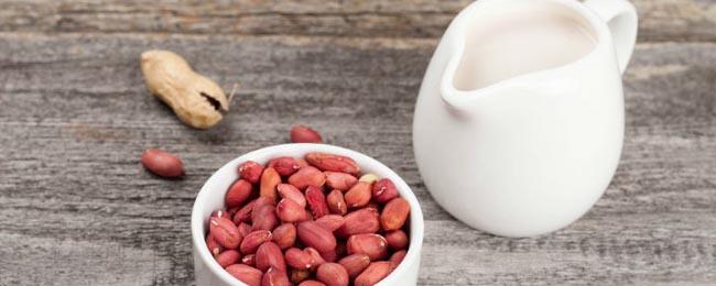 Leite de amendoim receita