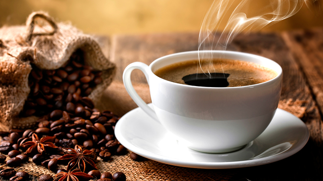 O Café preto, possui uma quantidade significativa de antioxidante