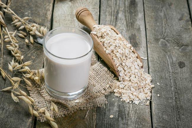 Receita de leite de aveia