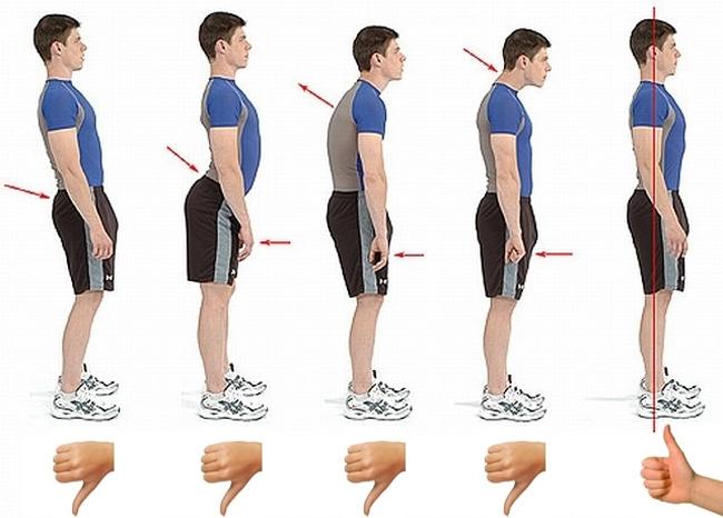 Alinhamento da coluna e postura