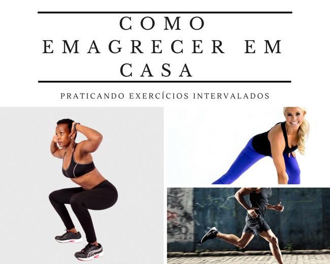Como emagrecer em casa praticando exercícios intervalados
