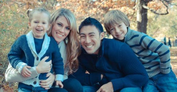 Dr. Charles Livingston e sua família