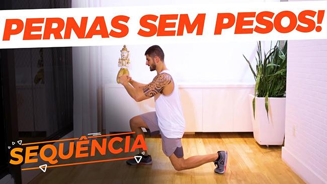 Exercícios para perna sem precisar de pesos
