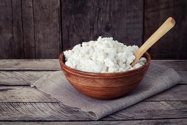 Queijo Cottage - possui grande quantidade de uma proteína, que é rapidamente absorvida pelo organismo.